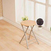 Heruai Innen-Büro Tisch Stuhl Falten Hocker Massivholz Schreibtisch Stühle Portable Angeln Hocker Outdoor Holz Bank Metall Stand Round Step Hocker Klappstühle , d