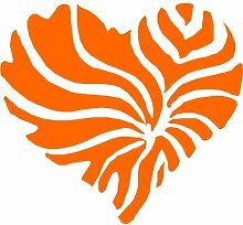 Herz Aufkleber 001, 50 cm, orange