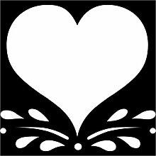 Herz Aufkleber 003, 50 cm, weiss