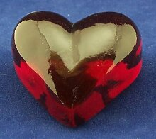 Herz aus Glas in rot - Dekoherz