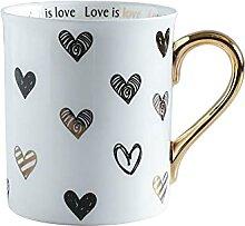 Herz Becher Porzellan Kaffee Tee Milch Wasser