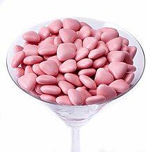 Herz Dragees 1 kg rosa Schokolade Schokoherzen
