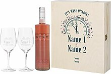 Herz & Heim® 2 Weingläser mit Gravur und Bree