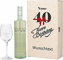 Herz & Heim® Bree Wein-Geschenk zum 40.