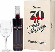 Herz & Heim® Bree Wein Geschenkkiste zum 70.