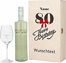 Herz & Heim® Bree Weingeschenk zum 80. Geburtstag