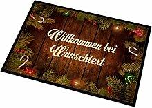 Herz & Heim® Fußmatte zu Weihnachten Willkommen