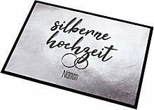 Herz & Heim® Fußmatte zur Silbernen Hochzeit mit