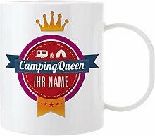 Herz & Heim® Kaffeebecher mit Namen aus Melamin -