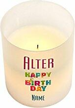 Herz & Heim® LED Kerze zum Geburtstag mit Namen