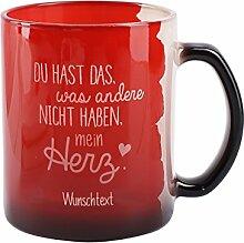 Herz & Heim® Magic Tasse mit Namensgravur - Du