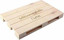 Herz & Heim® Paletten-Untersetzer 30x20 - Schlemmerplatte - mit Namensgravur