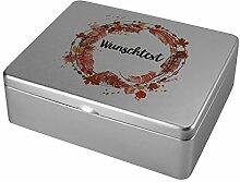 Herz & Heim® Tee-Box aus Metall - Motiv: Herbst -