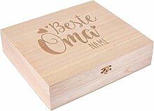 Herz & Heim® Teebox aus Holz mit 8 Fächern -