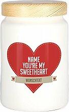Herz & Heim® Vorratsdose - Sweetheart - aus Keramik mit Namen und Wunschtext bedruck