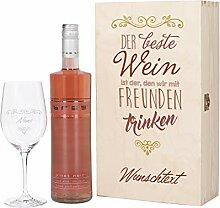 Herz & Heim® Wein Geschenkset mit graviertem