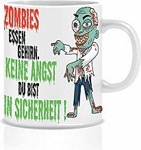 Herz-Ideen Tasse Zombies Essen Gehirn.beidseitig