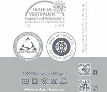 herzbach home Handtuch Badetuch Premium Qualität