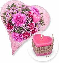 Herzenssache und Herz-Kerze