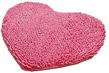 Herzförmige Anti-Rutsch-Herz Teppich Badezimmer Absorbierende Pad Wohnzimmer Schlafzimmer Küche Badezimmer Badezimmer Teppich ( Farbe : B , größe : 30*40cm )