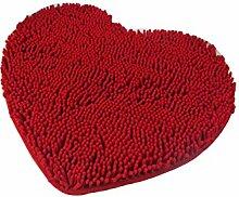 Herzförmige Anti-Rutsch-Herz Teppich Badezimmer Absorbierende Pad Wohnzimmer Schlafzimmer Küche Badezimmer Badezimmer Teppich ( Farbe : A , größe : 70*80cm )