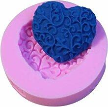 Herzform Spitze Silikonform, Blumen Kuchen, der