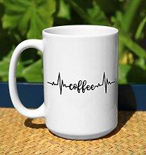 Herzfrequenz-Kaffeetasse Doct Kaffeetasse