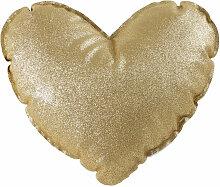Herzkissen mit goldenem Glitzer 30x30