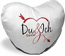 Herzkissen mit Namen Bennet und schönem