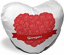 Herzkissen mit Namen Georgios und schönem Motiv