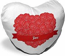 Herzkissen mit Namen Joe und schönem Motiv mit