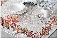 Hesta Tischdecke Weihnachten Cookies, Gobelin,
