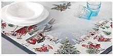 Hesta Tischdecke Weihnachten WINTERDORF, Gobelin,