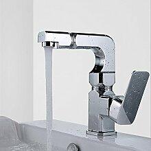 Hesui Bad Armatur_Waschbecken Küche Bad mit warmen und kalten Einloch Waschbecken Waschbecken Badezimmer