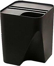 HETAO personality Hotel Kunststoff Stapelbar Sortierung Mülleimer kreativ Körbe zu Hause Desktop Küche groß , black Platz zum Reinigen des Mülls