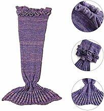 Hete-supply Fischschwanz gestrickte Decke,