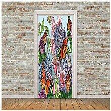 hetobea 3D Selbstklebende Tür Wandfarbe Farbe
