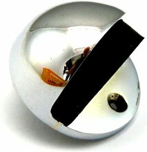 HETTICH - 1 Türstopper - Puffer - Stopper - Türpuffer - 40 Ø Metall - verchromt - mit Montagematerial - Edelstahl-Optik - Halbkugelform