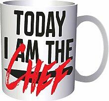 Heute bin ich der Koch 33 cl Tasse cc868