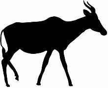 """hevinylguru–Antelope Wand Aufkleber Aufkleber–Tier Dekoration Wandbild–Schwarz, schwarz, 30 Inch (30""""W x 24.25""""H)"""