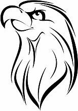 """hevinylguru–Eagle Vogel Wand Aufkleber Aufkleber–Tier Dekoration Wandbild–Schwarz, schwarz, 24 Inch (17.2""""W x 24""""H)"""