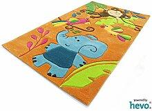 HEVO Bernadette Orange Handtuft Kinderteppich in