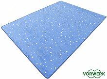 HEVO Vorwerk Bijou Stars blau Teppich |