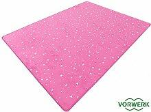 HEVO Vorwerk Bijou Stars pink Teppich |
