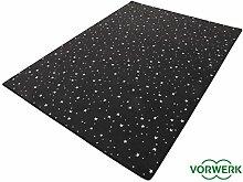 HEVO Vorwerk Bijou Stars schwarz Teppich |