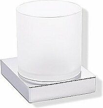 Hewi 100.04.12145 Becher aus Glas mit Halter System, verchrom
