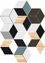 Hexagon Bodenfliese Aufkleber Abziehen Und