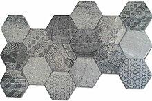 Hexagon Bodenfliese Hologram Optik 45x45cm