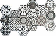 Hexagon Bodenfliese Zement Retro Optik 45x45cm