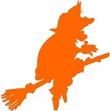 Hexe Aufkleber 001, 50 cm, orange